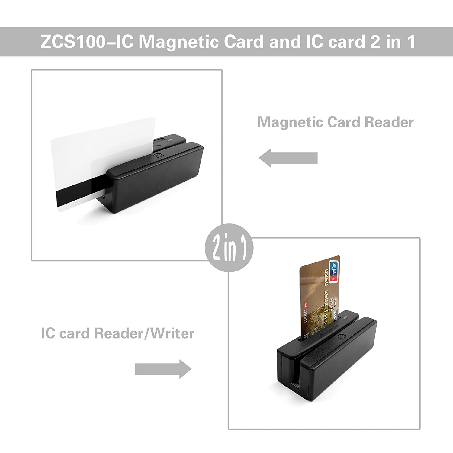 Zcs 100 Ic Magnetic Stripe Reader With Emv Chip Card Wiring Diagram Writer Usb Otg Customized Computers Accessories
