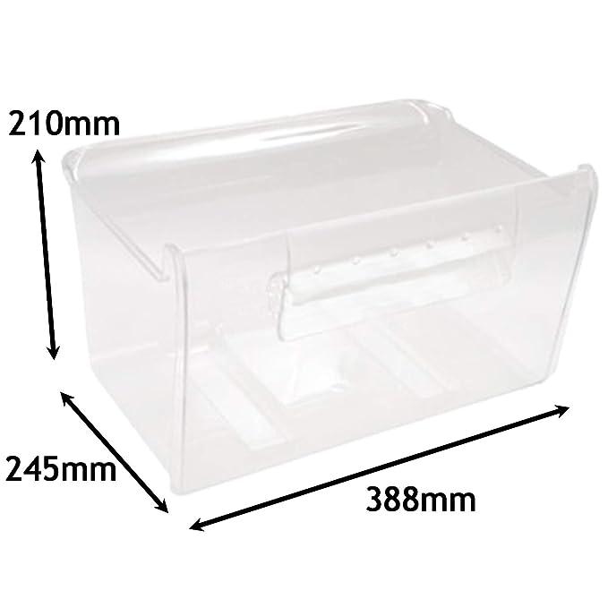 Spares2go - Cajón inferior para congelador de dulces (388 x 245 x ...