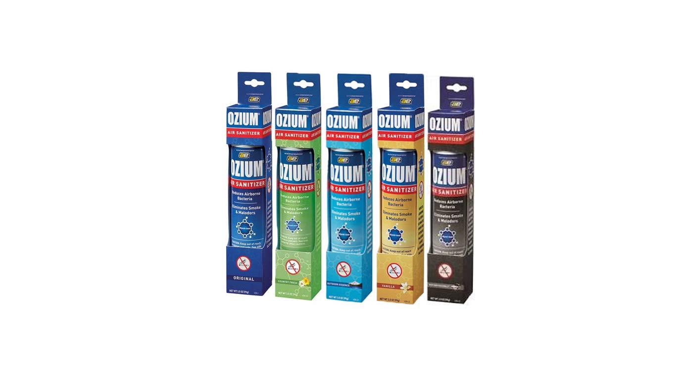 Ozium Air Freshener & Sanitizer (3.5 Oz) Variety Pack