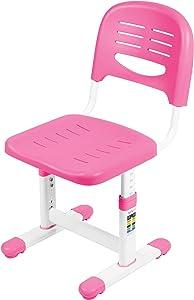 VIVO Height Adjustable Kids Desk Chair, Chair Only, Designed for Interactive Workstation, Universal Children's Ergonomic Seat, Pink, DESK-V201P-CH