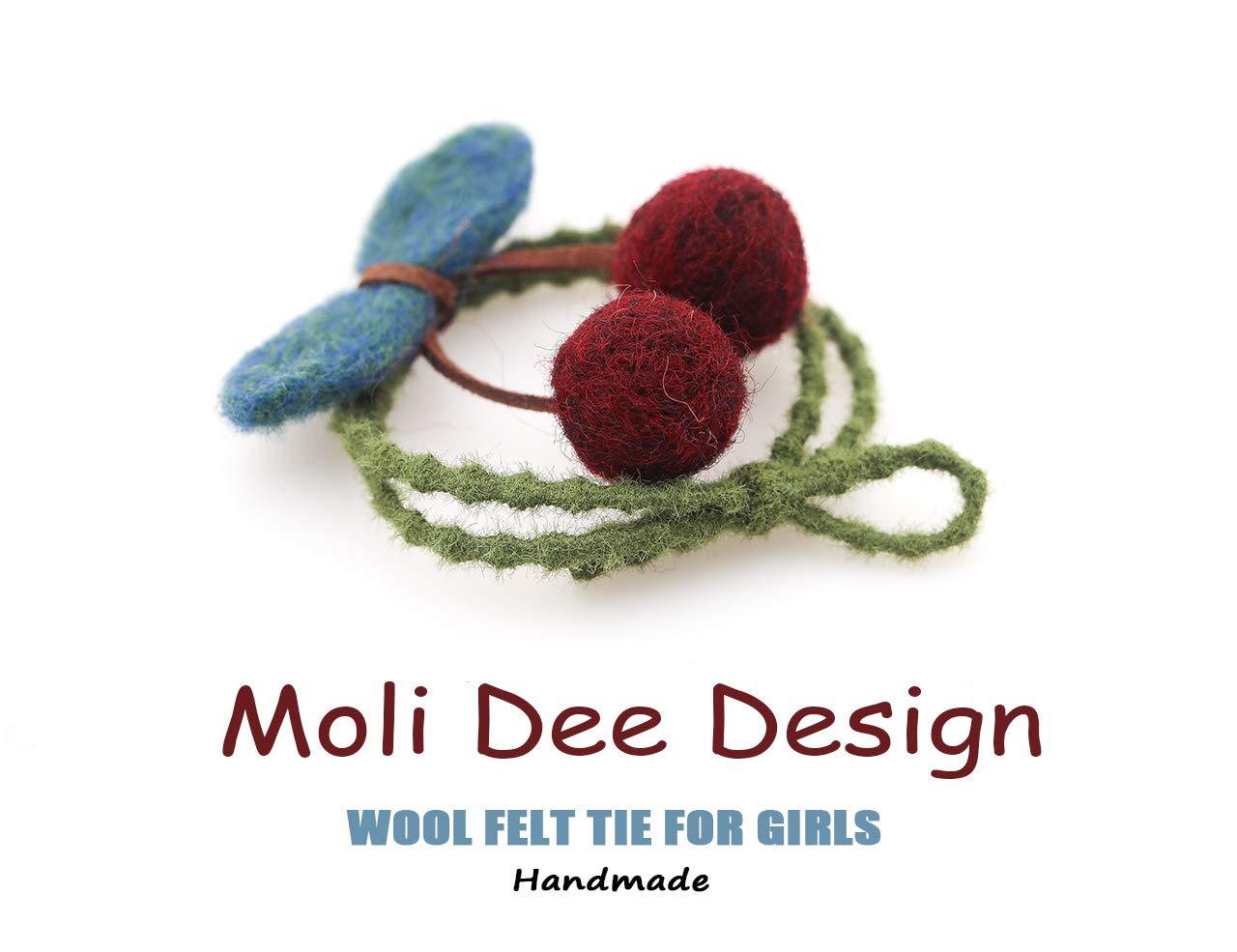 D-cherry red Moli Dee Design Hair Accessories handmade clips barrettes hair pin for women Kids Girls