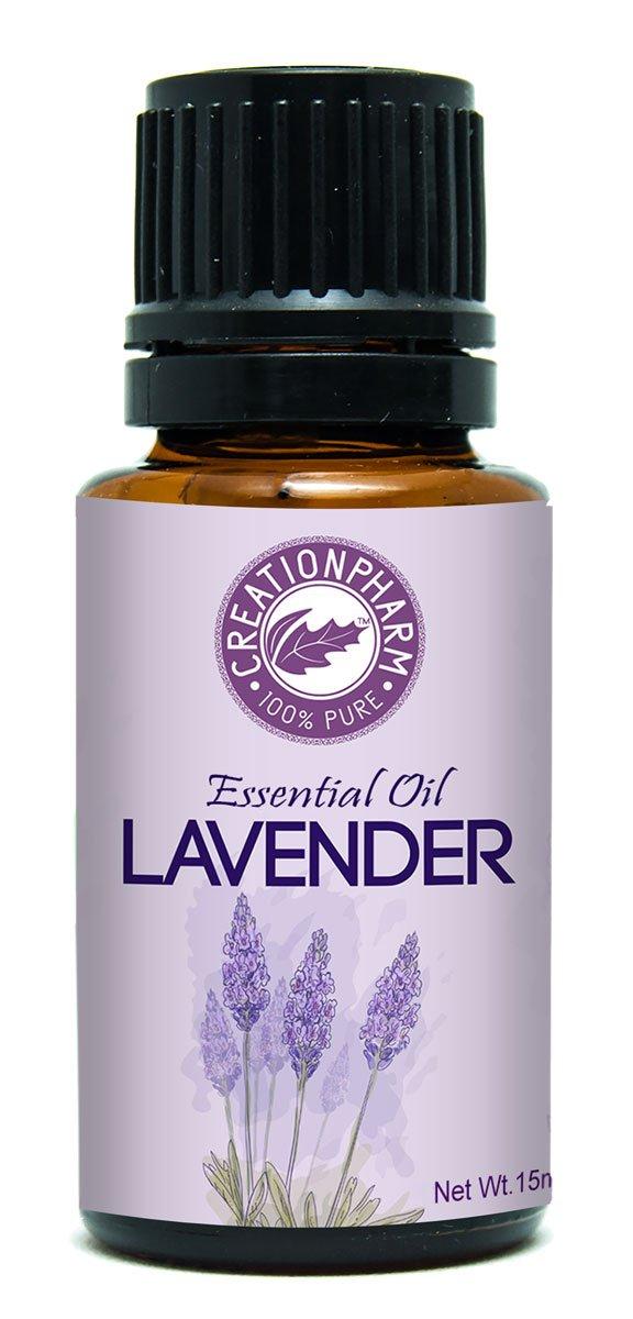 Creation Pharm Lavender Essential Oil 15ml Beautiful Aroma Therapeutic 100% Pure Undiluted Premium Steam Distilled aceite lavanda esencial puro ...