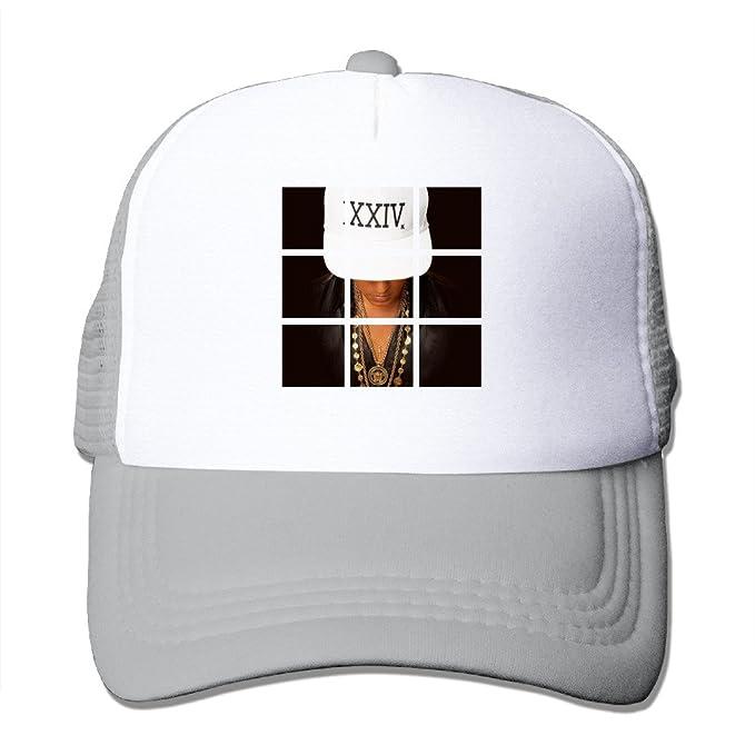 bffaa177c2899 Bruno Mars New Single 24k Magic Strapback Hat Visor Mesh Cap  Amazon ...