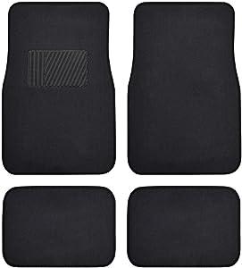 BDK Premium Set of Universal Carpet Floor Mats with Vinyl Safety Heel Pad for Car, Truck, SUV, Coupe Sedan