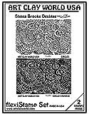 Flexistamps Texture Sheet Set Shona Brooks Circles Set (Including Commas and Commas Inverse)- 2 Pc.