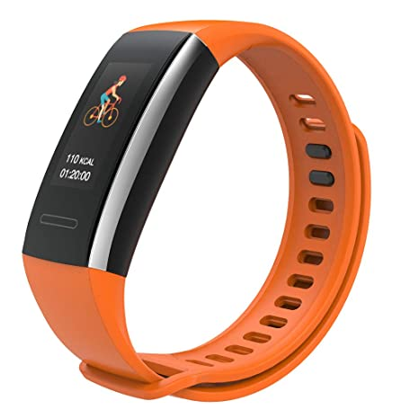 Montre Connectée Smartwatch Watch Sports Y15 Montre Intelligente Bracelet De Moniteur De Fréquence Cardiaque pour iOS Android Smartwatch Fuibo (Orange): ...