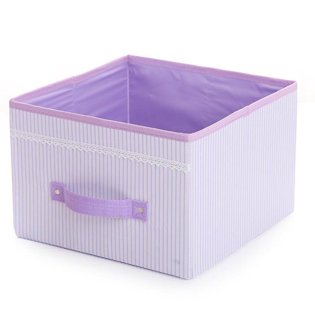Xuan Xuan Xuan - Worth Another Lila vertikale Linien Keine Deckel Aufbewahrungsbox Kleidung Finishing Box Folding Storage Box (Farbe   3pcs) 2fb798