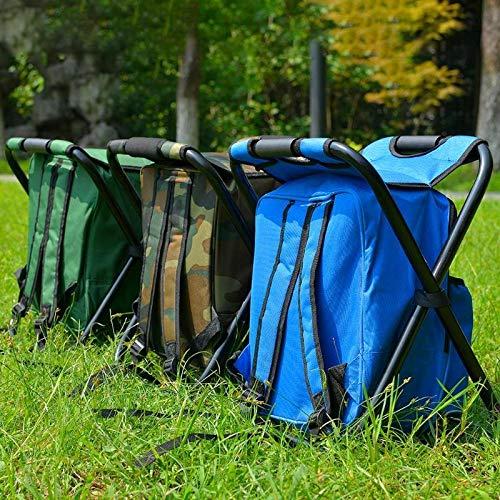 Silla plegable acampa de la pesca del taburete multifuncional de gran capacidad mochila nevera port/átil bolsa de picnic Senderismo asiento de mesa bolsa de aire libre jardiner/ía acampa de la pesca