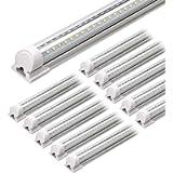 Barrina LED Shop Light, 4FT 40W 5000LM 5000K, Daylight White, V Shape, Clear Cover, Hight Output, Linkable Shop Lights…