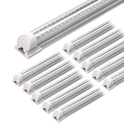 4ft Led Shop Light >> Barrina Led Shop Light 4ft 40w 5000lm 5000k Daylight White V Shape Clear Cover Hight Output Linkable Shop Lights T8 Led Tube Lights Led Shop