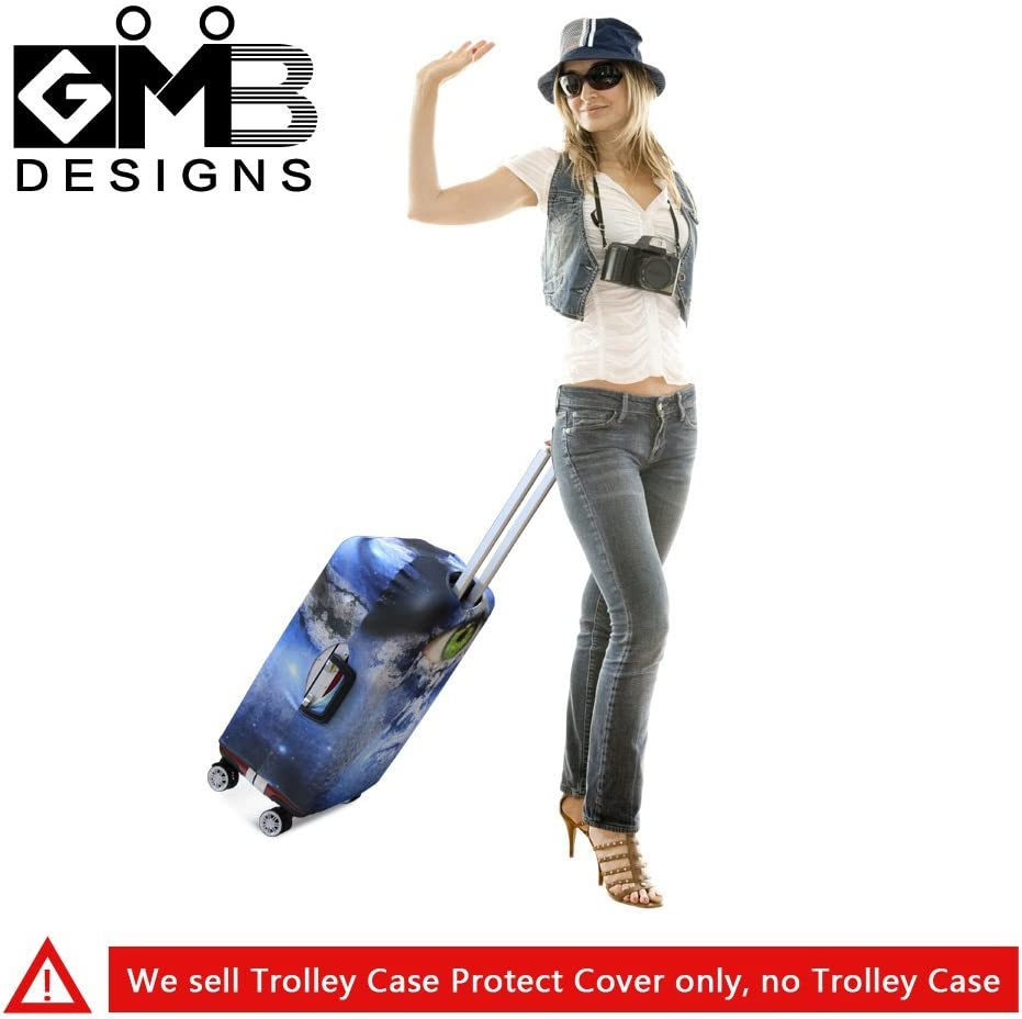 GIVE ME BAG Generic Elastic Waterproof Travel Luggage Cover Spandex Printed Suitcase Cover