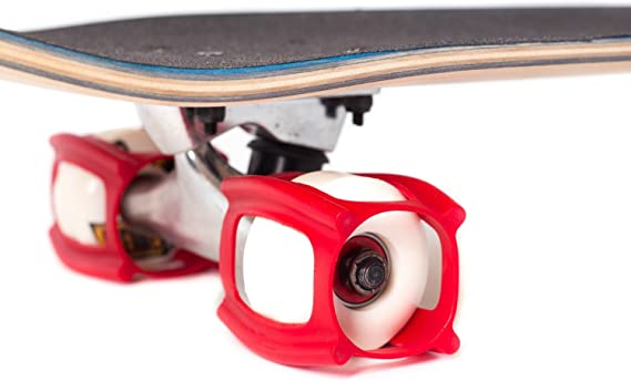 Amazon Com Skatertrainer 2 0 The Rubber Skateboarding Accessory For Perfecting Your Ollie And Kickflip Learn Practice And Land Tricks In No Time Red Sports Outdoors