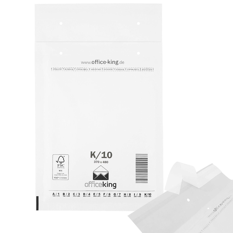 Officeking Luftpolstertaschen Reißfest 50 Stk Weiss K10 370 X
