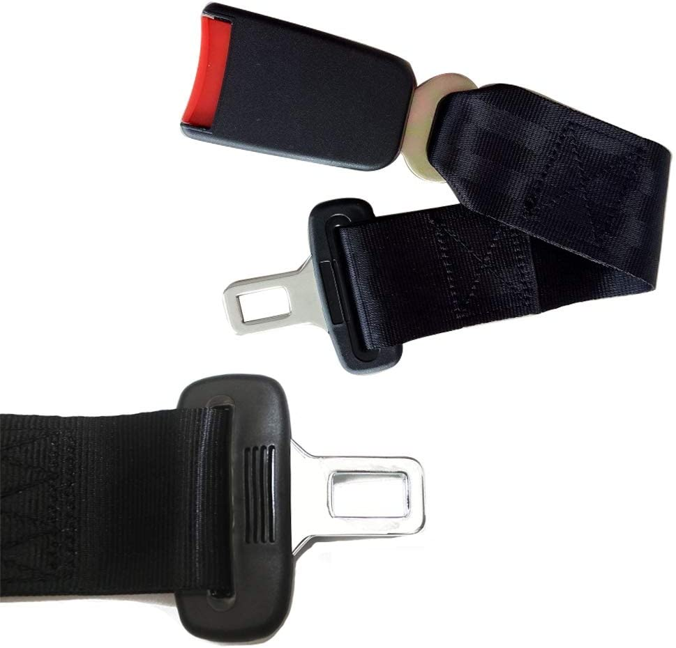 2 Pcs Seat Belt Extender Belt Buckle Seatbelt Seat Belt Clip Automotive Universal for Belt Clips car Rust Proof Durable Universal Buckle Comfortable and Safety Seatbelt Extension for Obese Men Pregnant Women Child 7//8 Inch Metal Universal Suitable for Most