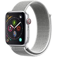 Apple Series 4 GPS & Cellular 44mm Silver Aluminum Case With Seashell Sport Loop Watch