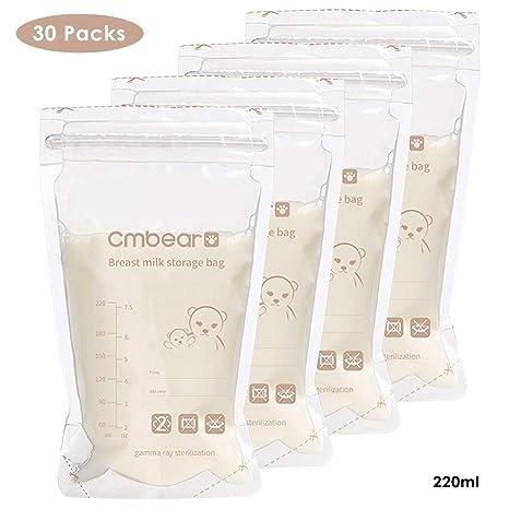 Leyeet 30 Count Bolsas de almacenamiento de leche materna ...