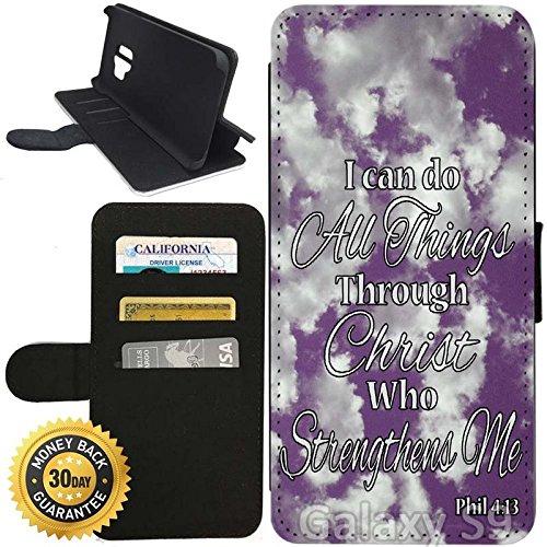 Amazon com: Flip Wallet Case for Galaxy S9 (Philippians 4-13