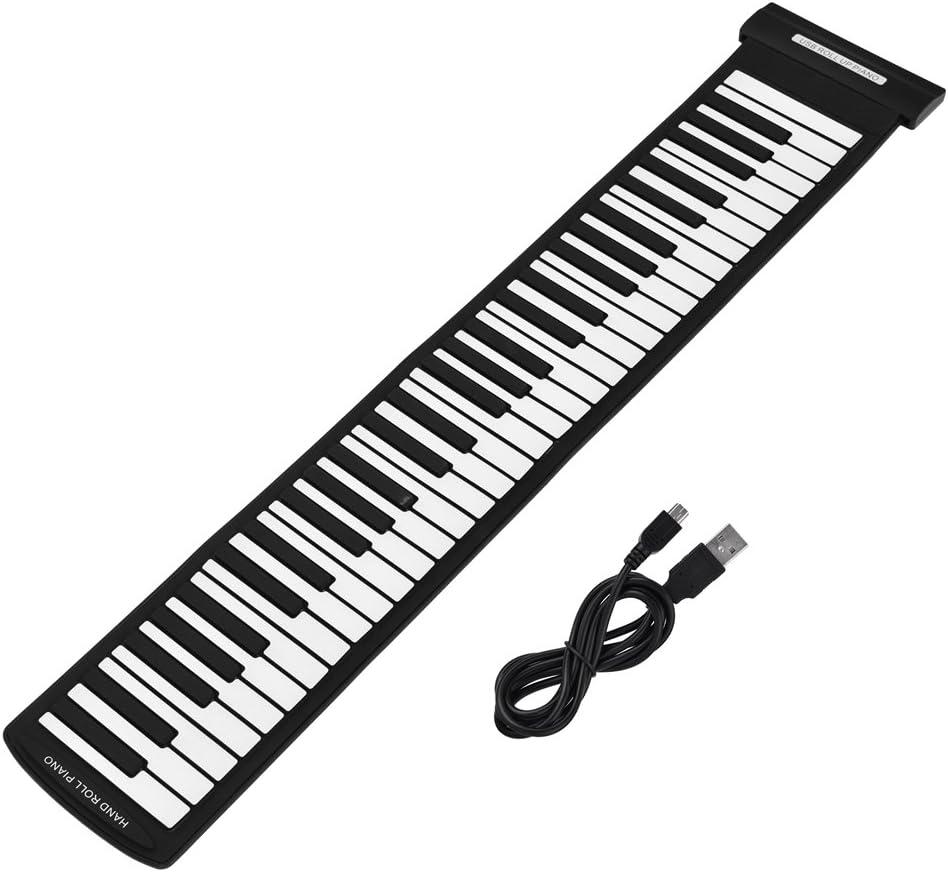 Piano enrollable de 61 teclas, teclado de piano electrónico ...