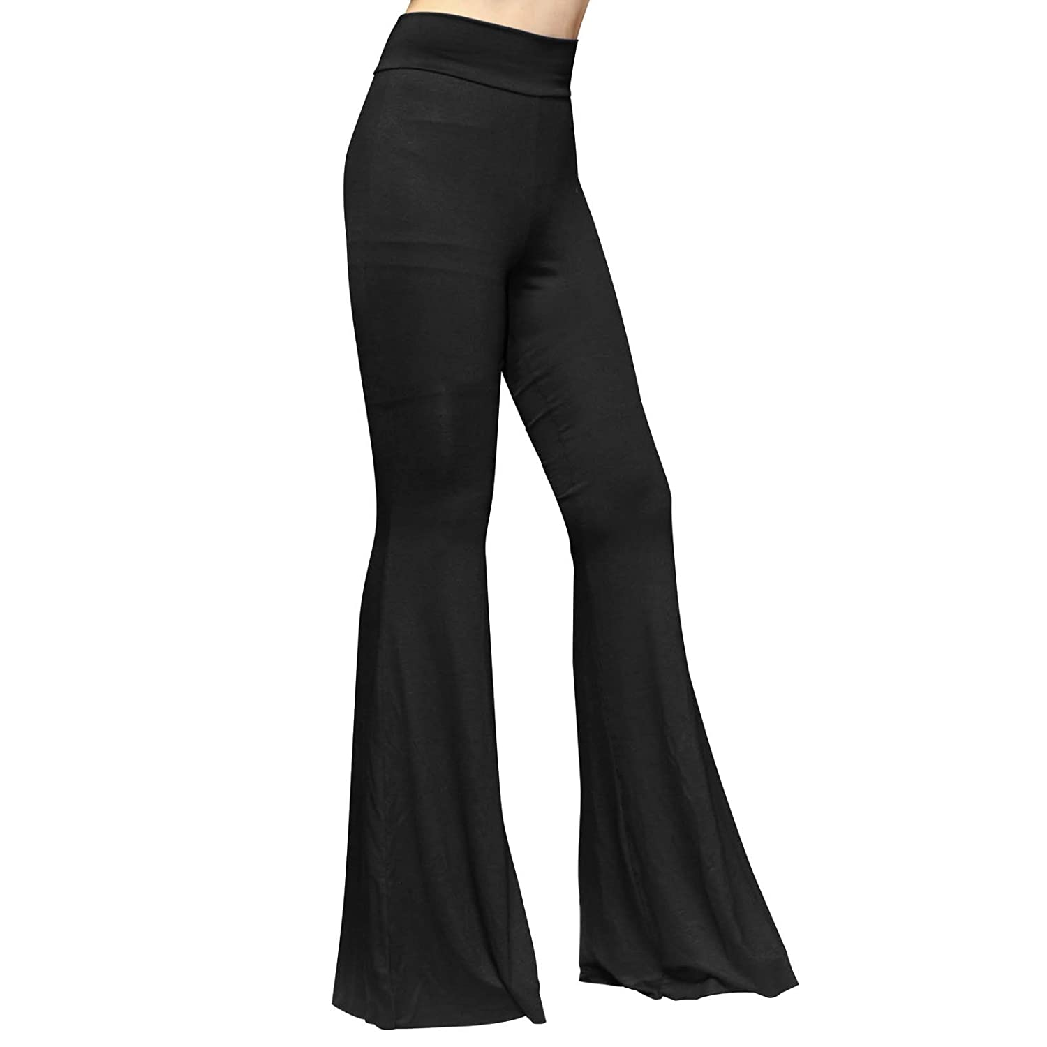 SMT Women's High Waist Wide Leg Long Palazzo Bell Bottom Yoga ...