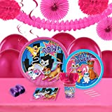 Super Hero Pets Childrens Birthday Party Supplies - Tableware Party Pack (8)