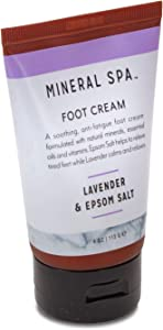 Mineral Spa Lavender & Epsom Salt Foot Cream, 4 Ounce