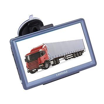 GPS para Coche CARRVAS 7 Pulgadas Sat Nav HD Pantalla Táctil Navegador GPS Actualización: Amazon.es: Electrónica
