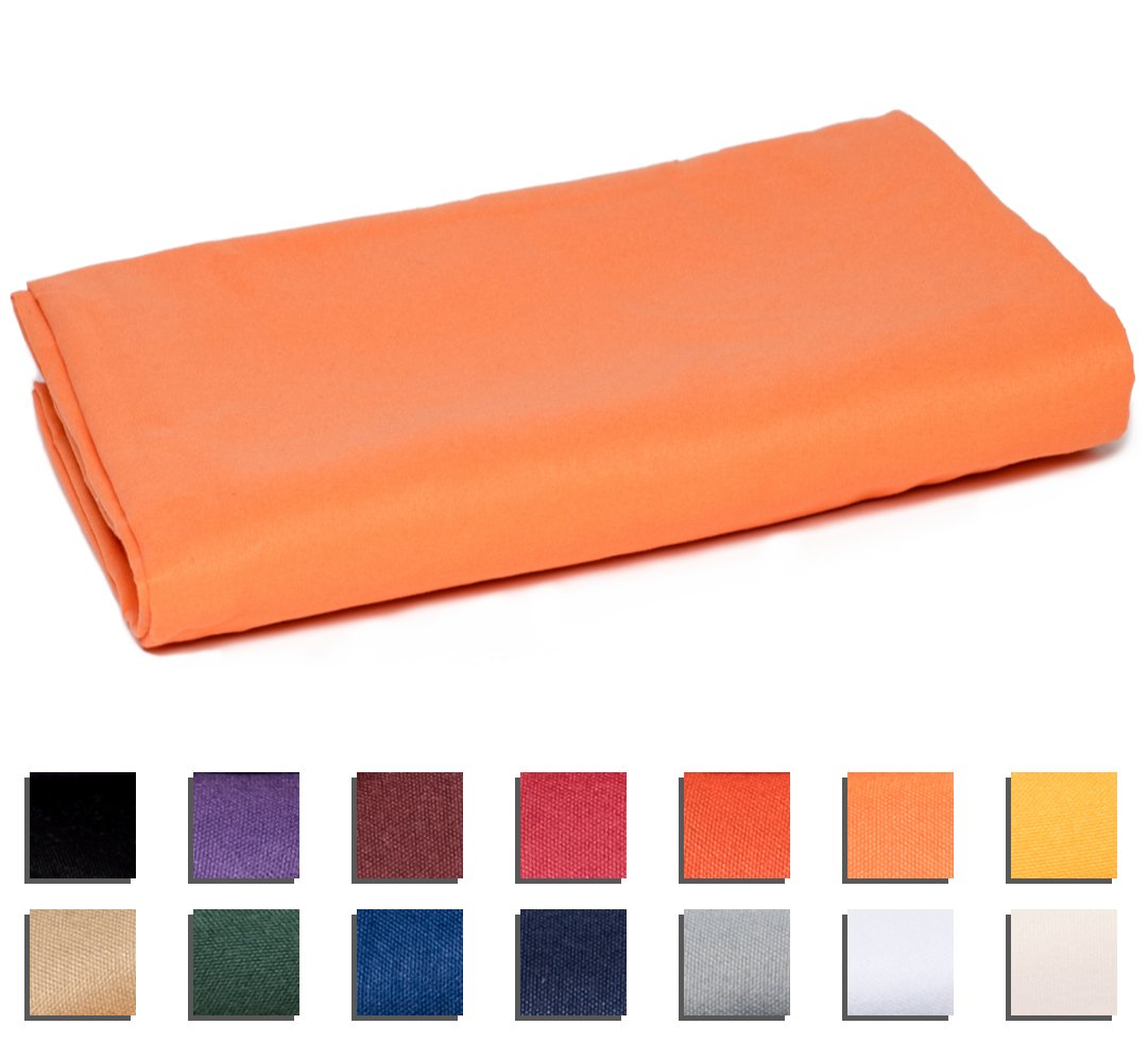 University College Colors - Mix and Match - Dorm Bedding Separates - Microfiber Twin XL Flat Sheet - Lt Orange