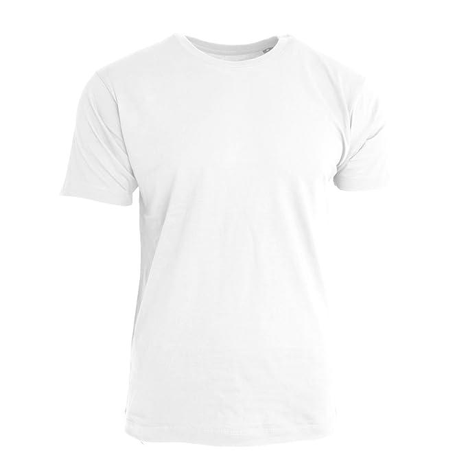 Nakedshirt - Camiseta algodón orgánico manga corta Modelo Larry hombre caballero (Pequeña (S)