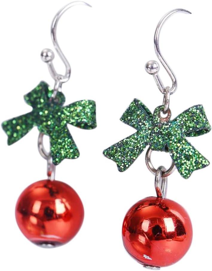 LAAT Aretes de Navidad Pendientes de Gota roja Pendientes para Mujer Decoración navideña