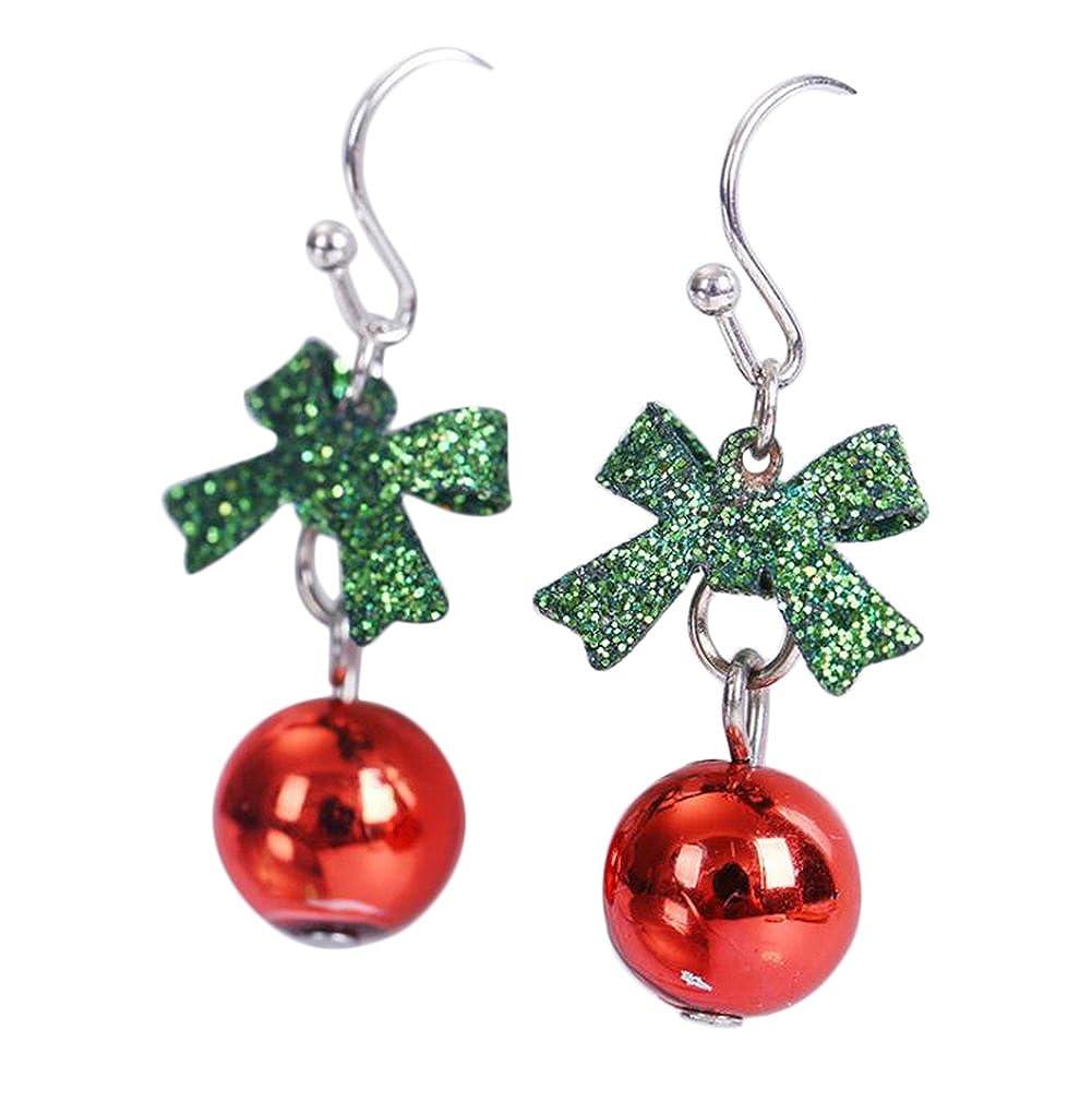 Scrox Fashion Earring Christmas Earrings Red Bead Drop Earrings ...