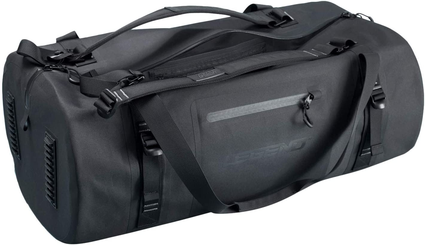 Legend Arctic Dry Waterproof Black Duffel Bag - Large 50-70 Litre Capacity - TPU Design for Kayaking, Boating, Weekenders, Hiking or Gym - Foldable for Travel