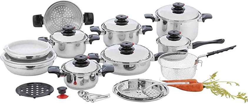 Amazon.com: Chef s Secret 28pc 12-Element T304 acero ...