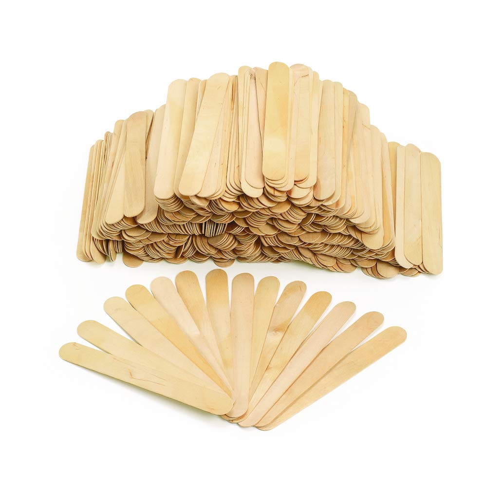 Regular Jumbo Colorations Assorted Sizes Natural Wood Craft Sticks Tongue Depressors and Mini 1200 Piece Classroom Pack Item # CPCS All Natural 1mm Thick Large