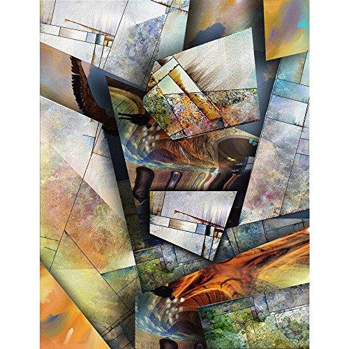 Pitaara Box PB Modernist Inspired Abstract Peel & Stick Vinyl Wall Sticker 16 x 20.7inch
