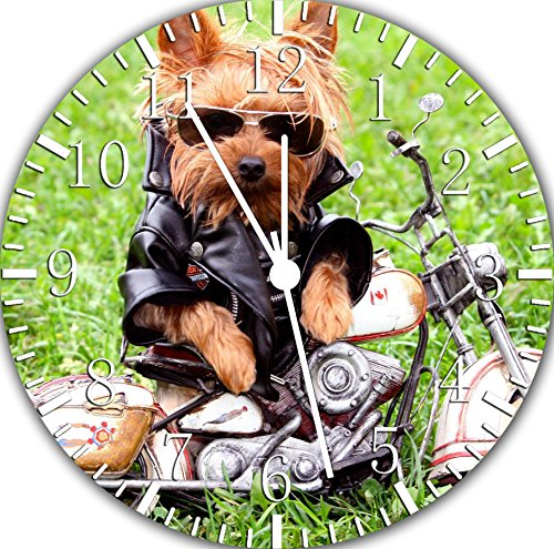 Borderless Cute Yorkie Dog Yorkshire Terrier Frameless Wall Clock E401 Nice for Decor Or Gifts 1
