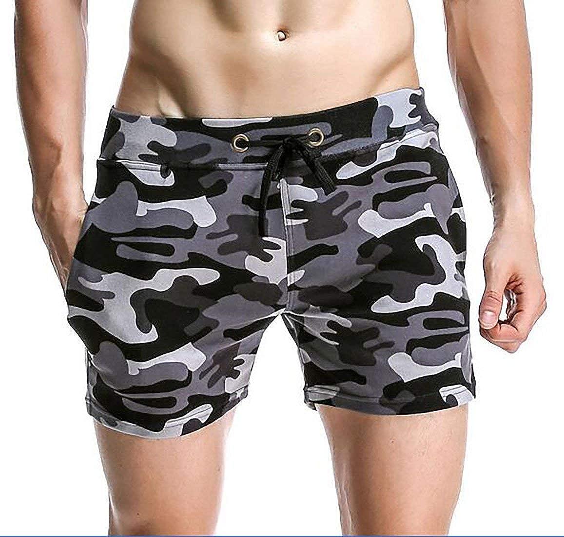 SELX-Men Fitness Camouflage Shorts Underwear Sleep Comfort Lounge Shorts