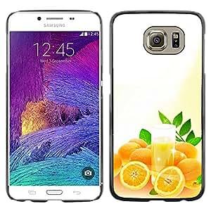 Paccase / SLIM PC / Aliminium Casa Carcasa Funda Case Cover - Fruit Macro Oranges - Samsung Galaxy S6 SM-G920