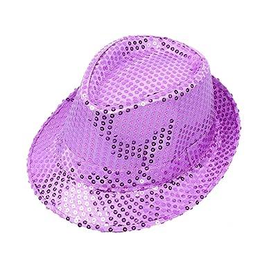 651dc5446f377 Zedo Unisex Hat Performance Sequins Top Hat Stage Dance Kids Hat  Parent-Child Cap Glitter Hat Outdoor  Amazon.co.uk  Clothing