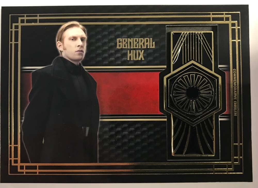 2017 Topps Star Wars The Last Jedi Medallion Relics #NNO General Hux/First Order