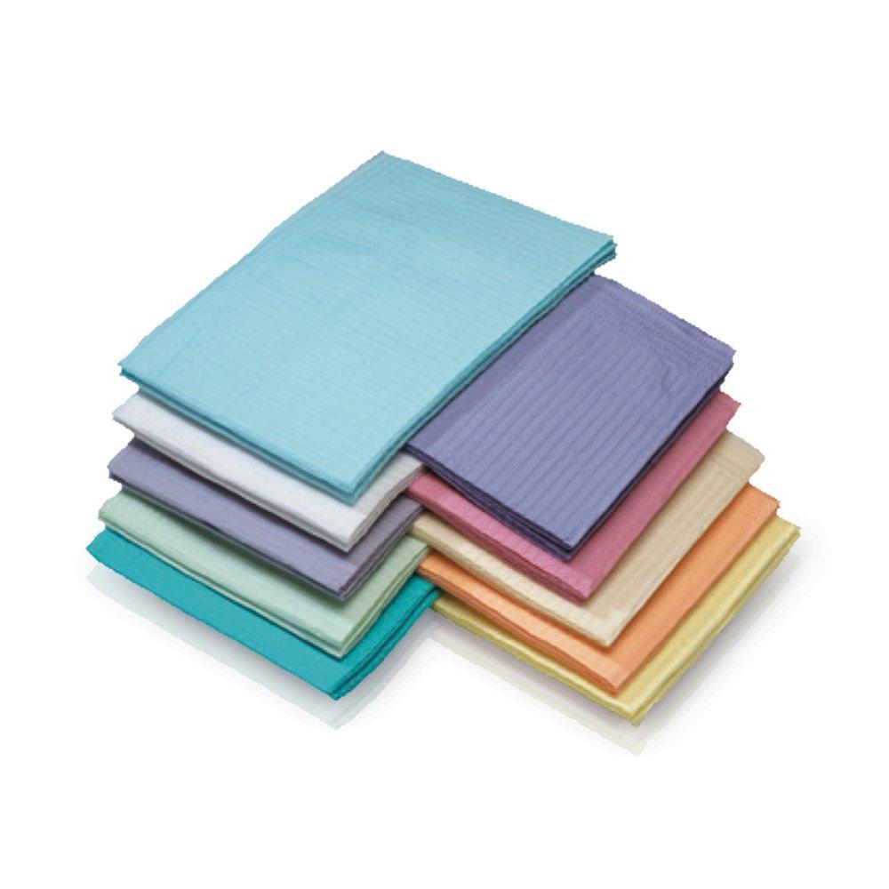 Medicom 8380 Dry-Back Dental Bibs, 3 Ply, Lavender (Pack of 500)