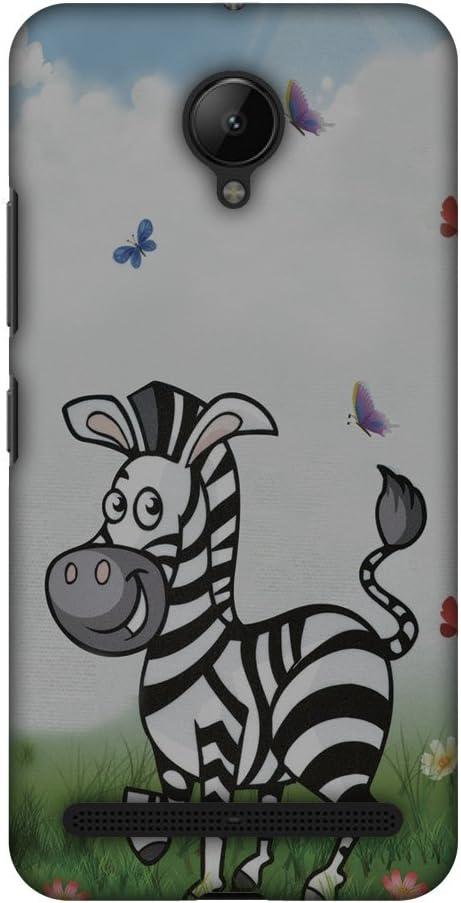 AMZER Slim Handcrafted Designer Printed Hard Shell Case For Lenovo C2 - Lexi Zebra