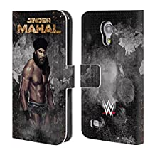 Official WWE LED Image Jinder Mahal Leather Book Wallet Case Cover For Samsung Galaxy Note 4