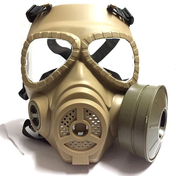 Táctico Máscara QMFIVE Dummy anti niebla máscara de gas M04 con ventilador Airsoft paintbal protección Gear(DESIERTO): Amazon.es: Deportes y aire libre