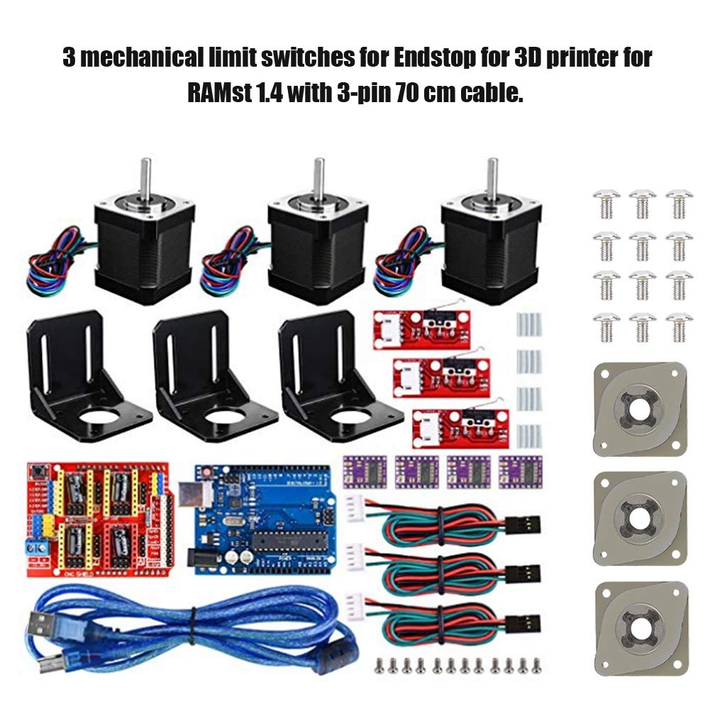 Wendry Kit de Controlador CNC de Impresora 3D, 3 Amortiguadores ...