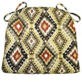 Barnett Products Southwest Navajo Dining Chair Pad with Ties - Size Extra-Large - Latex Foam Fill - Reversible, Machine Washable