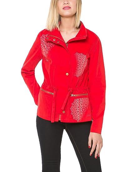 Desigual LODY, Abrigo para Mujer, Rojo (Fiesta 3148), 42
