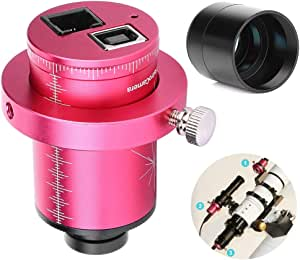 Socobeta Star Guide T7C Telescope Camera Equatorial Instrument Eyepiece Camera ST4 Electronic Eyepiece Adjustable Viewing The Moon for Deep Space Full Photography