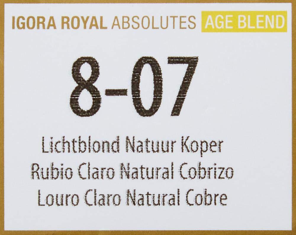 Schwarzkopf Igora Absolutes Tinte Permanente, Tono 8-07 - 60 ml