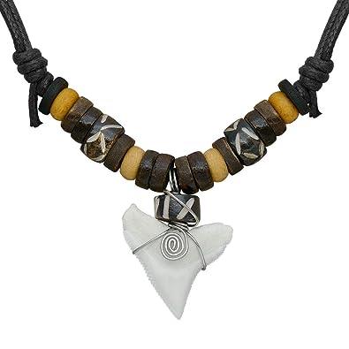 bfcfbd0a82ec 1 collar ajustable diente de tiburón diente Soul cats® con colgante Etno  Etno Cuero Surfer Shark  Amazon.es  Joyería