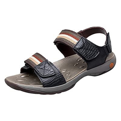 Abby 6022 Mens Sandals Stylish Casual Athletic Beach Peep Toe